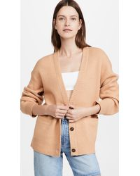 Jonathan Simkhai Estela Wool Cashmere Blend Ribbed Cardigan - Multicolour