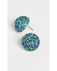 Kate Spade Colorful Crystal Studs - Blue