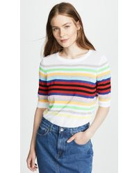 MILLY - Rainbow Stripe Pullover - Lyst