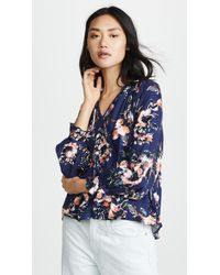 Splendid - Painted Floral Blouse - Lyst