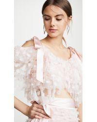 Rodarte Embroidered Tiered Off Shoulder Blouse - Pink