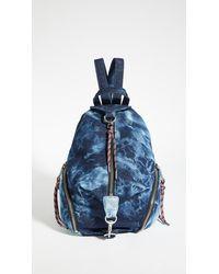 Rebecca Minkoff Tie Dye Medium Julian Backpack - Blue