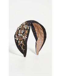 NAMJOSH Black Gold/crystal Headband