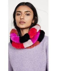 Jocelyn Faux Fur Three Row Multi Colored Cowl