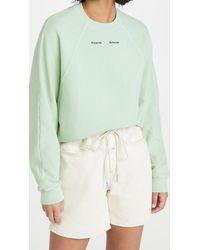 PROENZA SCHOULER WHITE LABEL Modified Raglan Solid Sweatshirt - Green
