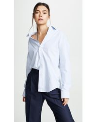 Alexander Wang - Off The Shoulder Shirt With Mixed Chain Necklace - Lyst