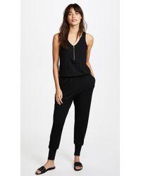 Terez - Black Quarter Zip Jumpsuit - Lyst
