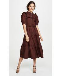 Sea Rumi Tiered Dress - Brown