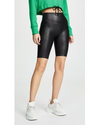 Spanx Faux Leather Bike Shorts - Black
