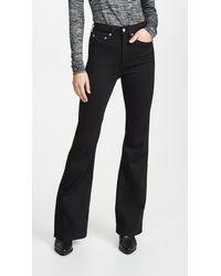 Rag & Bone Jane Super High-rise Flare Jeans - Black