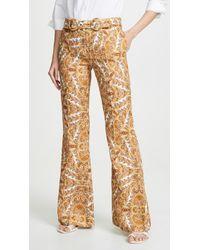 Zimmermann Zippy Golden Flare Pants - Multicolor