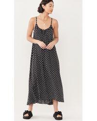 9seed Tulum Polka Dot Dress - Black