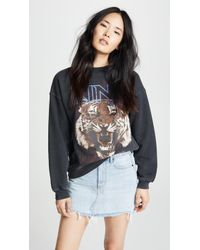 Anine Bing Bing Tiger Sweatshirt - Black
