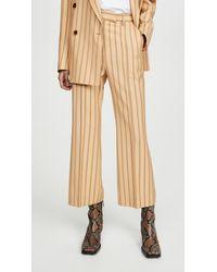 Acne Studios Patrina Pinstripe Trousers - Natural