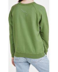 Clare V. Tiger Sweatshirt - Green