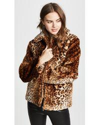 Anine Bing - Molly Faux-fur Leopard Jacket - Lyst