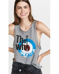Chaser The Who Target Logo Tank - Grey