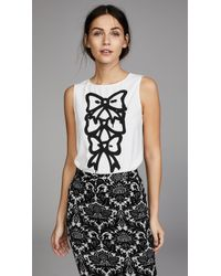 Boutique Moschino - Bow Print Blouse - Lyst