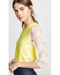 f8d370f82c47f Leur Logette - Lace Sleeve Top - Lyst