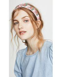 NAMJOSH Neon Sequin Headband - White