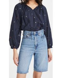The Great - Posey Embroidered Top - Lyst