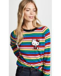 Chinti & Parker - Hello Kitty Rainbow Stripe Cashmere Sweater - Lyst