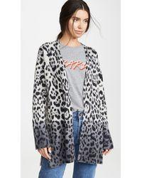 360 Sweater Jocelyn Leopard Cashmere Cardigan - Multicolor