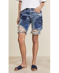 Free People - Heart Breaker Patched & Embroidered Shorts - Lyst