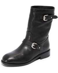Rag & Bone Oliver Ii Buckled Lamb-leather Moto Boots - Black
