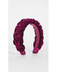 Jennifer Behr Velvet Lorelei Headband - Multicolour