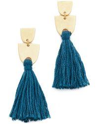 Madewell Tassel Earrings - Blue