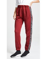 T By Alexander Wang - Pull On Track Pants With Logo Tape - Lyst