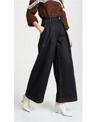 Ferragamo Wide Leg Jeans - Black