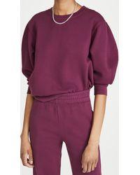 Sundry 3/4 Sleeve Sweatshirt - Purple