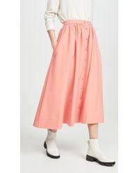 Chinti & Parker Full Skirt - Pink
