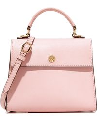 Tory Burch Parker Small Top Handle Satchel - Pink
