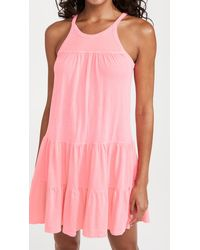 Sundry Tiered Mini Dress - Pink