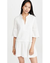 Monrow Easy Mini Dress - Natural