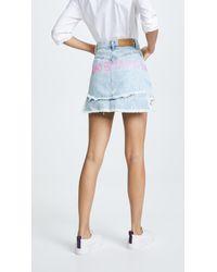 Natasha Zinko - Denim Printed Miniskirt - Lyst