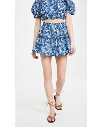Eberjey Tropical Leaves Nellie Skirt - Blue