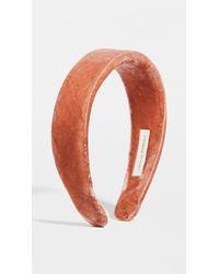 Loeffler Randall Bette Wide Band Headband - Red