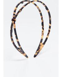 Alexandre De Paris Hard Headband - Brown