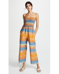 A Peace Treaty - Tomar Ruched Jumpsuit - Lyst
