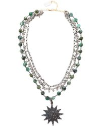Ela Rae | Three Layer Emerald Coin Necklace | Lyst