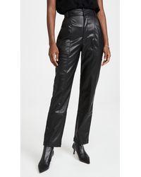 Ronny Kobo Katie Faux Leather Pants - Black