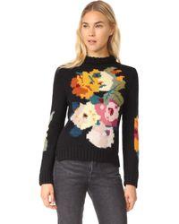 Smythe - Alpaca Floral Intarsia Sweater - Lyst