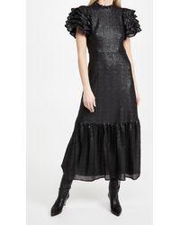 Sea Rachelle Ruffle Sleeve Gown - Black