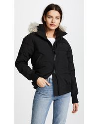 Canada Goose | Savona Fur-Trimmed Down-Padded Bomber jacket | Lyst