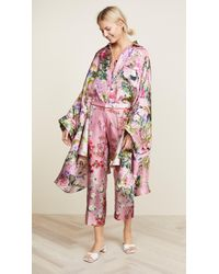 F.R.S For Restless Sleepers - Draped-sleeve Floral Blouse - Lyst