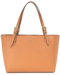 Tory Burch York Small Buckle Tote - Brown
